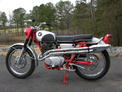1967 Honda CL77 red-silver FL 4k