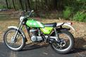 1976 Kawasaki KT 250 left side