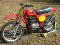 1977 Maico AW400 restored red yellow 1108 001