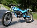 1978 Bultaco 199A blue restored 6-06 001