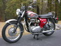 1968 BSA Lightning red chrome 1209 001