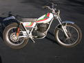 1975 Ossa 350 MAR restored with fenders 106 004