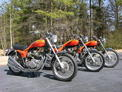 Trio of 1973 Triumph X75 Hurricanes 207 001
