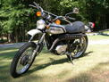 1974 Kawasaki F7 silver after 709 002